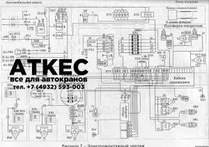 Схема электрическая поворотной платформы КС-45717А-1
