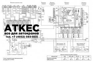 Схема гидравлическая принципиальная КС-3574М3