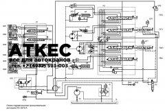Схема гидравлическая принципиальная КС-3575-А