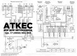 Схема гидравлическая принципиальная КС-45717-А1