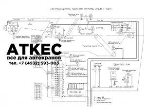 Схема электрическая поворотной части КС-65740-1